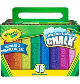 CRAYOLA LLC 48 CRAYOLA WASHABLE SIDEWALK CHALK
