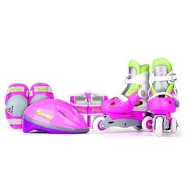 NATIONAL SPORTING GOODS COMBO TRAINING SKATES PINK SMALL