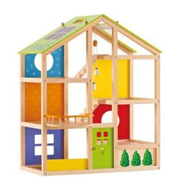 HAPE ALL SEASON DOLLHOUSE UNFURNISHED*
