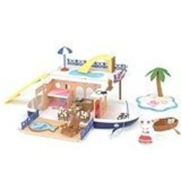 EPOCH EVERLASTING PLAY SEASIDE CRUISER HOUSEBOAT CALICO CRITTERS*