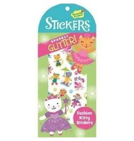 PEACEABLE KINGDOM FASHION KITTY GLITTER STICKERS