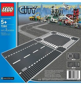 LEGO STRAIGHT & CROSSROAD BASEPLATE
