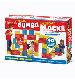 MELISSA AND DOUG 40 PC CARDBOARD BLOCKS M & D