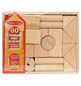MELISSA AND DOUG STANDARD UNIT BLOCKS 60 M & D