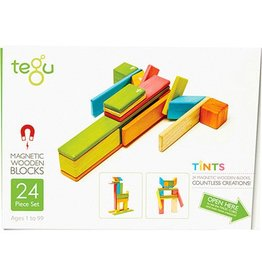 TEGU TEGU MAGNETIC WOODEN BLOCKS 24 PC TINT