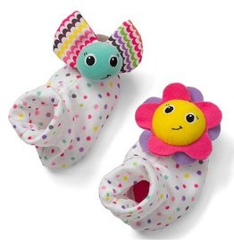 INFANTINO FOOT RATTLES BUG & SUNFLOWER