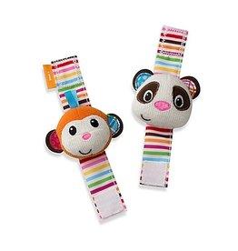 INFANTINO WRIST RATTLES MONKEY & PANDA