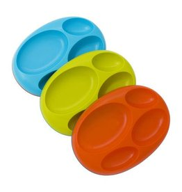 TOMY PLATES 3 PACK  BLUE / ORANGE / GREEN