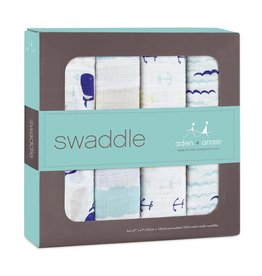 ADEN AND ANAIS MUSLIN SWADDLE 4 PK