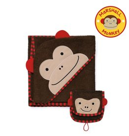 SKIP HOP HOODED TOWEL & MITT MONKEY