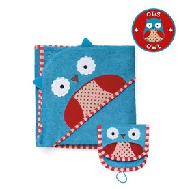SKIP HOP HOODED TOWEL & MITT OWL*