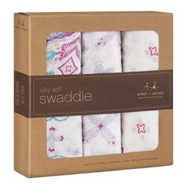 ADEN AND ANAIS BAMBOO SWADDLE 3 PK