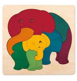 HAPE RAINBOW ELEPHANT & BABY PUZZLE