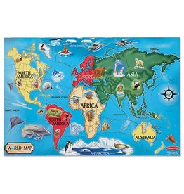 MELISSA AND DOUG WORLD MAP 33 PC FLOOR PUZZLE*