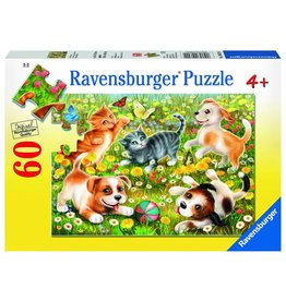 RAVENSBURGER USA CATS & DOGS 60 PC PUZZLE*
