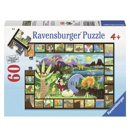 RAVENSBURGER USA DINOSAUR ALPHABET 60 PC PUZZLE**