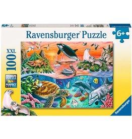 RAVENSBURGER USA BEAUTIFUL OCEAN 100 PC PUZZLE
