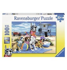 RAVENSBURGER USA NO DOGS ON BEACH 100 PC PUZZLE