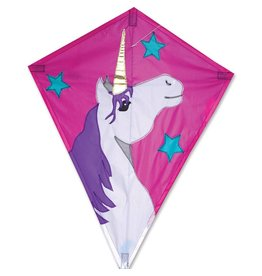 "PREMIER KITE LUCKY UNICORN 25"" DIAMOND KITE"