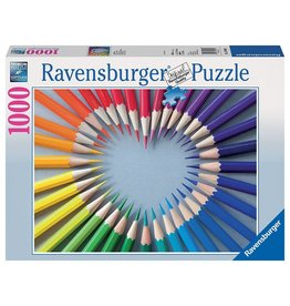 RAVENSBURGER USA COLOR MY HEART 1000 PC PUZZLE