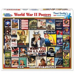 WHITE MOUNTAIN PUZZLE WORLD WAR II POSTERS 1000 PC PUZZLE