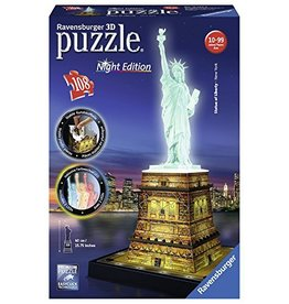 RAVENSBURGER USA STATUE OF LIBERTY 3-D PUZZLE NIGHT EDITION