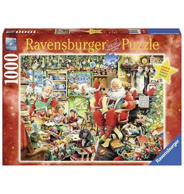 RAVENSBURGER USA SANTAS FINAL PREPARATIONS 1000 PC PUZZLE*