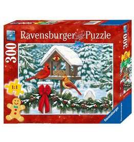 RAVENSBURGER USA CARDINALS AT CHRISTMAS 300 PC PUZZLE*