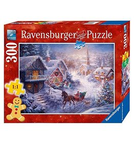 RAVENSBURGER USA DASHING THROUGH THE SNOW 300 PC PUZZLE*
