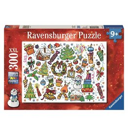 RAVENSBURGER USA CHRISTMAS FUN 300 PC PUZZLE*