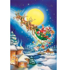 COBBLE HILL SANTA ON A MOONLIT NIGHT 60 PC PUZZLE