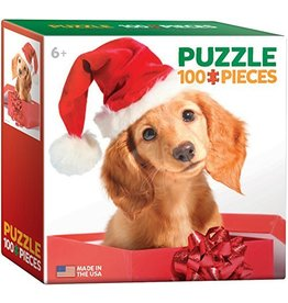 EUROGRAPHICS CHRISTMAS PUPPY MINI 100 PC PUZZLE*