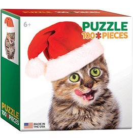 EUROGRAPHICS CHRISTMAS KITTEN MINI 100 PC PUZZLE*