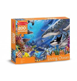MELISSA AND DOUG LIVING OCEAN 200 PC PUZZLE