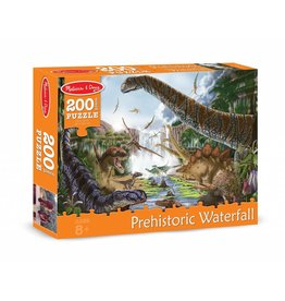 MELISSA AND DOUG PREHISTORIC WATERFALL 200 PC PUZZLE