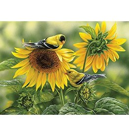 COBBLE HILL SUNFLOWERS & GOLDFINCHES 1000 PC PUZZLE