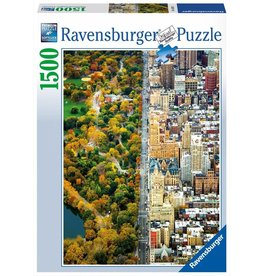 RAVENSBURGER USA DIVIDED TOWN 1500 PC PUZZLE