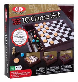 ALEX BRANDS 10 GAME SET WOODEN BOX
