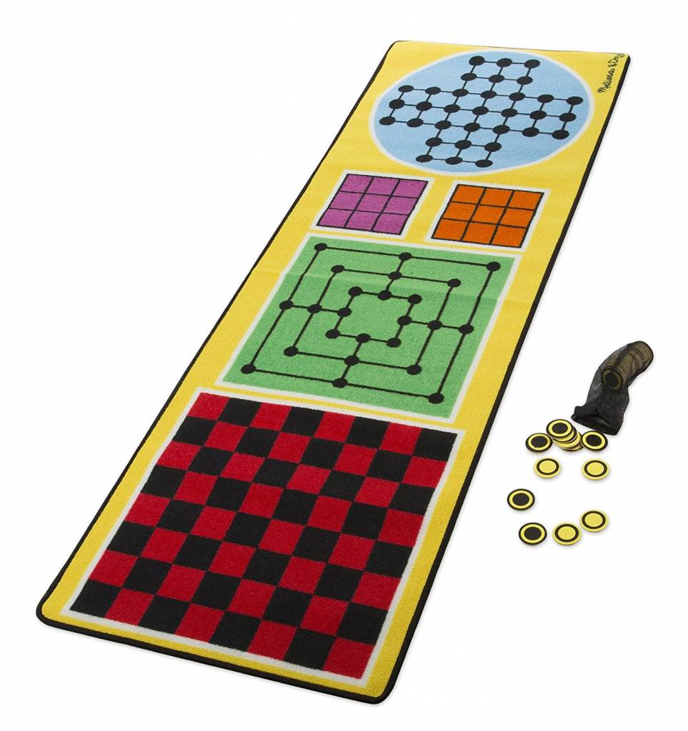 MELISSA AND DOUG 4 IN 1 GAME RUG M & D*