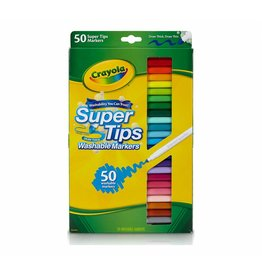 CRAYOLA LLC 50 WASHABLE SUPER TIPS MARKERS