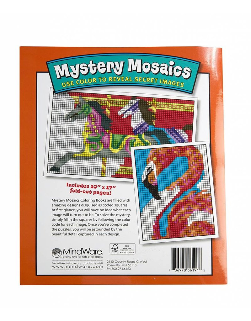 mindware mystery mosaics coloring book 1 - Mindware Coloring Books