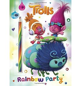 RANDOM HOUSE DREAMWORKS TROLLS: RAINBOW PARTY PENCIL COLOR OW PENCIL COLORING BOOK