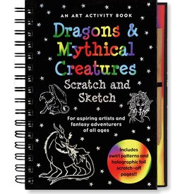 PETER PAUPER DRAGONS & MYTHICAL CREATURES SCRATCH AND SKETCH