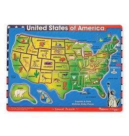 MELISSA AND DOUG USA MAP SOUND PUZZLE