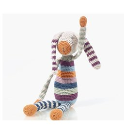 PEBBLE ORGANIC RAINBOW BUNNY DOLL