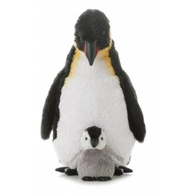 "AURORA 12"" EMPEROR PENGUIN WITH BABY"