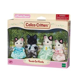 EPOCH EVERLASTING PLAY TUXEDO CAT FAMILY CALICO CRITTERS
