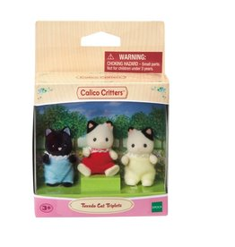 EPOCH EVERLASTING PLAY TUXEDO CAT TRIPLETS CALICO CRITTERS