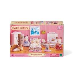 EPOCH EVERLASTING PLAY GIRLS LAVENDER BEDROOM SET CALICO CRITTERS