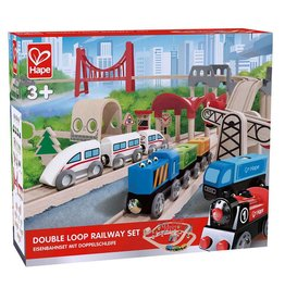 HAPE DOUBLE LOOP RAILWAY SET**